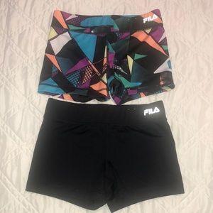 Fila Workout/Bike Shorts- 2 pairs